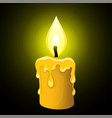 candle on a dark background vector image vector image