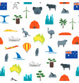 cartoon australia discover concept travel vector image vector image
