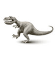 cartoon dinosaur painted in engraving style vector image