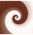 chocolate and milk twirl vector image