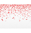 christmas valentines day red confetti on vector image