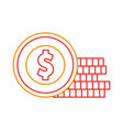 coins money isolated icon vector image vector image