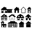 collection different houses vector image vector image