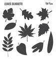 Collection of leaf silhouettes vector image