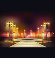 colored street lights realistic composition vector image