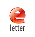 colorful abstract logo letter E vector image vector image