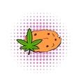 Cookies with marijuana leaf icon comics style vector image vector image