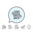 credit card line icon cashback service vector image