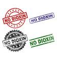 damaged textured no dioxin stamp seals vector image vector image