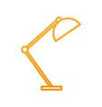 desk lamp light furniture electric icon vector image