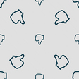 Dislike icon sign Seamless pattern with geometric vector image
