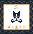 dog paw - logo symbol protect sign vector image vector image