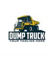 dump truck logo vector image vector image