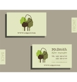 Eco organic visiting card template For natural vector image