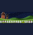 farm larm landscape at night vector image vector image