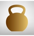 Fitness Dumbbell sign vector image vector image