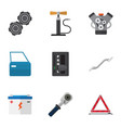 flat icon workshop set of ratchet belt vector image vector image