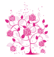floral gift tree vector image vector image