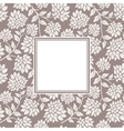 Flower seamless with frame vector image