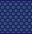 gold blue star of david pattern vector image vector image
