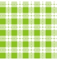Green and white tablecloth seamless pattern vector image
