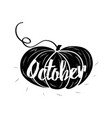 hand-sketched typographic element with pumpkins vector image vector image