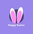 happy easter easter rabbit ears holiday card vector image vector image