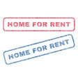 home for rent textile stamps vector image