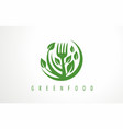 logo for healthy organic food vector image vector image