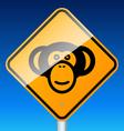 monkey on road vector image