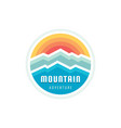 mountain adventure outdoors - concept logo vector image