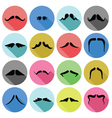 mustaches icons vector image vector image