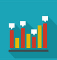 new chart icon flat vector image