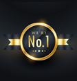 no 1 leadership business golden label design vector image vector image