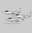 north american f-86 sabre vector image vector image