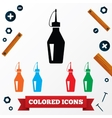 Oilcan industrial icons Colored symbols on white vector image