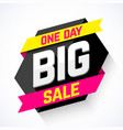 one day big sale banner vector image