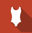 one piece swimsuit icon vector image vector image