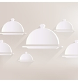 Restaurant cloche icon vector image vector image