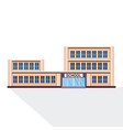 school building exterior education concept white vector image