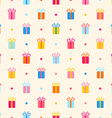 Seamless pattern with multicolor gifts vector image vector image