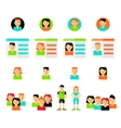 set avatars flat icons vector image vector image