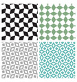 set of geometric square seamless pattern vector image