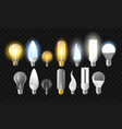 set of light bulbs - realistic isolated vector image