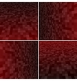 Set Red Square Mosaic Background vector image