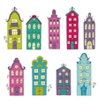 set town building city streets vector image