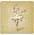 sketch ballet posture dancing studio symbol vector image vector image