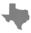 texas map halftone icon vector image