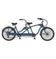 the retro blue tandem bicycle vector image