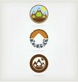 Three natural logo vector image vector image